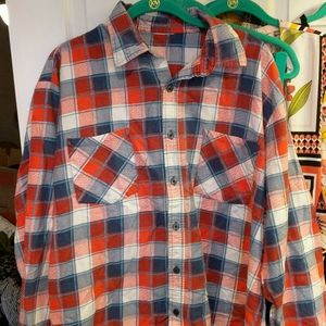 IMPERFECT VINTAGE 80s Button Up Flannel Shirt